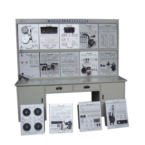 2,各模块上部:1,配电路原理图,各电器整齐系统摆放,每个部件标注名