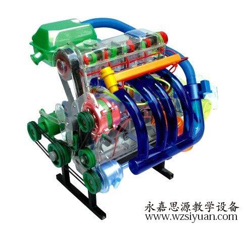 桑塔纳发动机透明模型